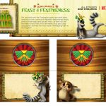 King Julien Printable Holiday Place Cards Craft