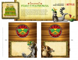 King Julien Printable Holiday Placecards Craft