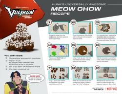 Voltron Meow Chow Recipe