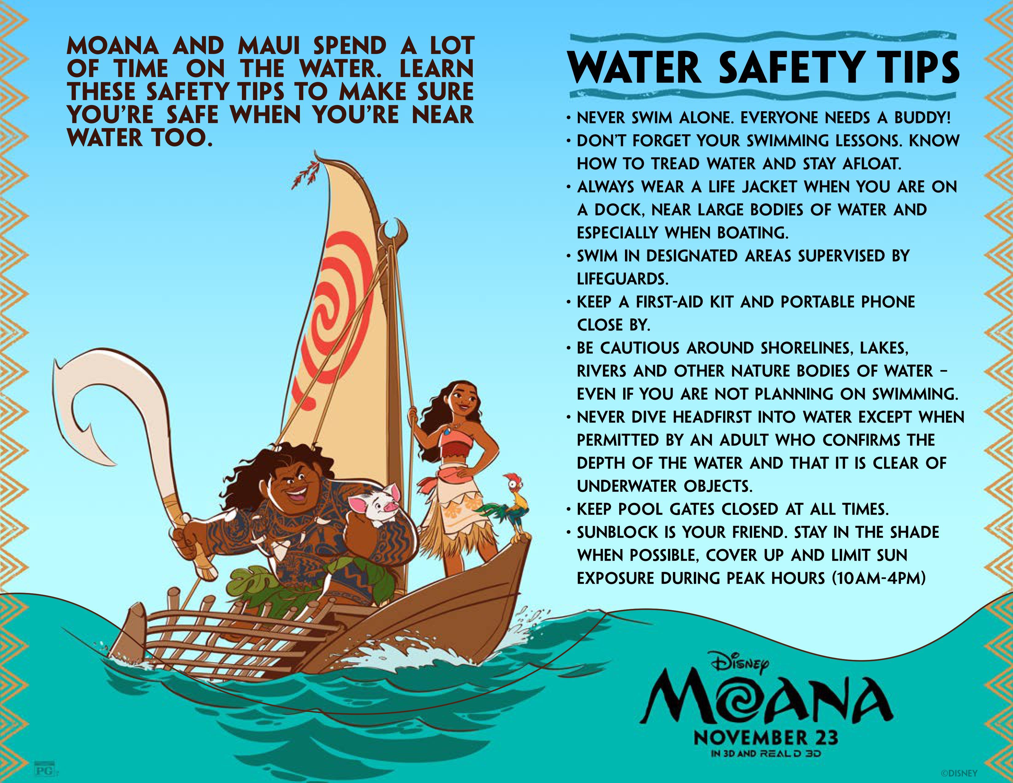 Disney Moana Water Safety Tips