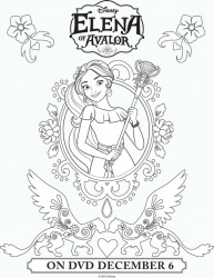 Disney Elena of Avalor Printable Coloring Page