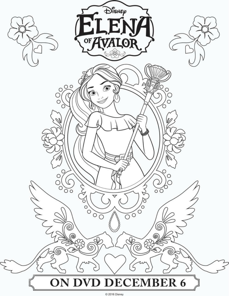 Disney Elena of Avalor Printable Coloring Page Mama