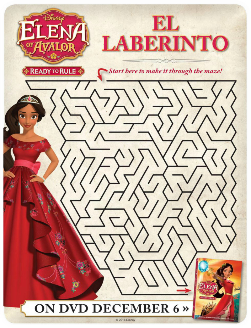 Disney Elena of Avalor Free Printable Maze