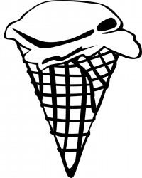 Ice Cream Cone Printable Coloring Page