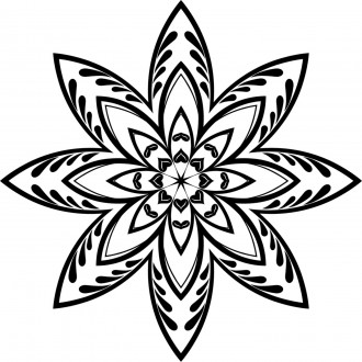 Geometric Star Coloring Page