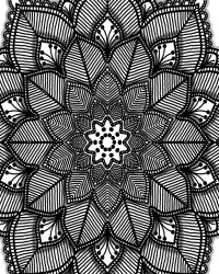 Gorgeous Flower Coloring Page for Adults