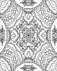 Beautiful Patterned Coloring Page for Adults