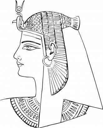 Ancient Egyptian Pharoah Coloring Page