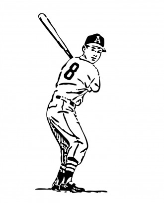 Little League Baseball Player Coloring Page