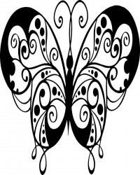 Elegant Butterfly Coloring Page