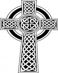 Free Printable Celtic Cross Coloring Page