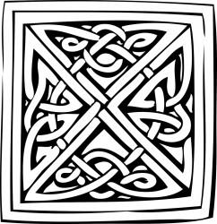 Celtic Design Adult Coloring Page