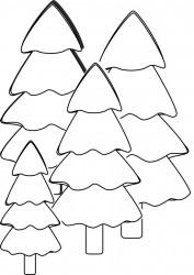 Christmas Trees Printable Coloring Page