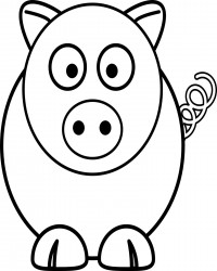 Free Printable Adorable Pig Coloring Page