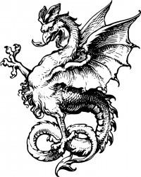 Printable Dragon Coloring Page