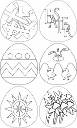 Free Printable Easter Eggs Coloring Page