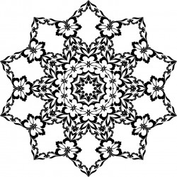 Floral Snowflake Coloring Page for Adults and Kids