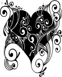 Free Printable Fancy Heart Coloring Page