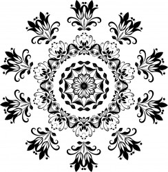 Flourish Snowflake Printable Coloring Page for Adults and Kids