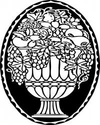 Free Printable Fruit Bowl Coloring Page