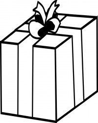 Gift Box Coloring Page for Birthdays or Holidays