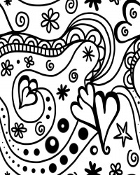 Groovy Hearts Coloring Page