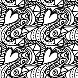 Free Printable Hearts Club Coloring Page