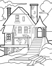 Free Printable House Coloring Page