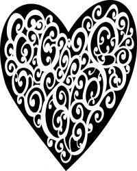 Lace Heart Valentine's Day Coloring Page