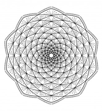 Free Printable Mandala Design Coloring Page