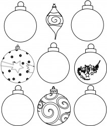 Free Printable Christmas Tree Ornament Coloring Page Craft