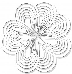 Free Printable Rosette Flower Coloring Page for Adults and Kids