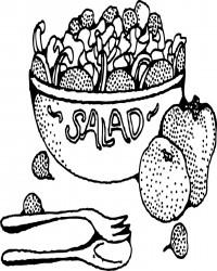 Free Printable Salad Bowl Coloring Page