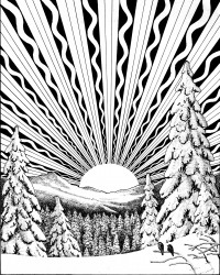 Winter Solstice Printable Coloring Page
