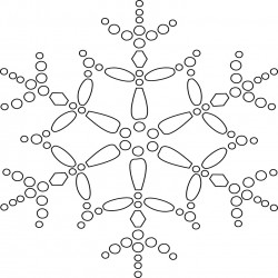 Star Snowflake Coloring Page