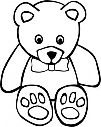 Free Teddy Bear Coloring Page