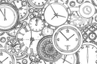 Free Printable Steampunk Clocks Coloring Page
