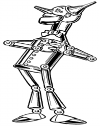 Wizard of Oz Tin Man Coloring Page