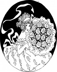 Valentine's Day Bouquet Coloring Page