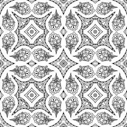 Vintage Tile Coloring Page
