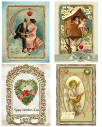 Free Printable Vintage Valentine's Day Cards