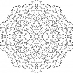 Abstract Circle Adult Coloring Page