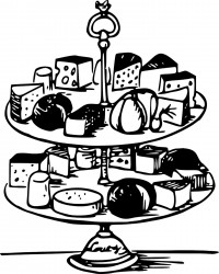Free Printable Cheese Plate Coloring Page