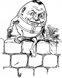 Humpty Dumpty Nursery Rhyme Coloring Page