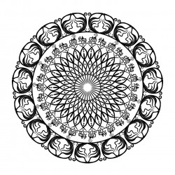 Free Printable Mandala with Horses and Elephants Coloring Page