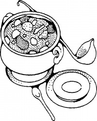 Free Printable Soup Coloring Page