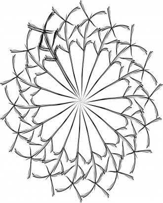Abstract Star Coloring Page