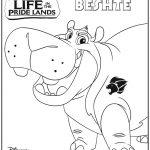 Disney Lion Guard Beshtie Coloring Page