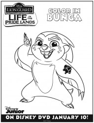 Disney Lion Guard Bunga Coloring Page
