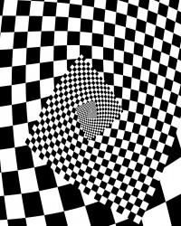 Checkerboard Spiral Coloring Page
